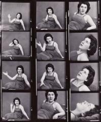 contact sheet photo series of Maureen Stapleton